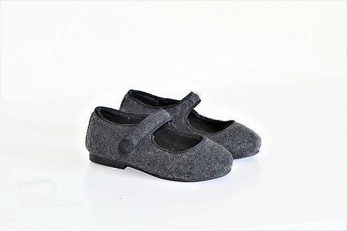 Grey Wool Mary Jane