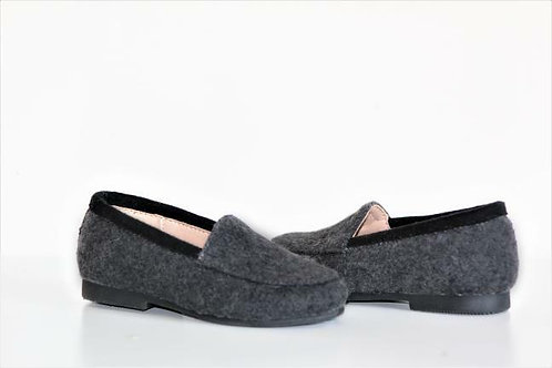 Grey Wool Loafer