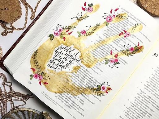 Gold Hand Print Bible Journaling Tutorial