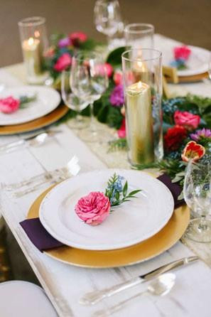 reception, place setting, flowers, day of coordination, wedding