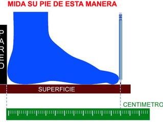 Como medir tu pie