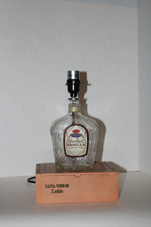 Crown Royal bottle lamp