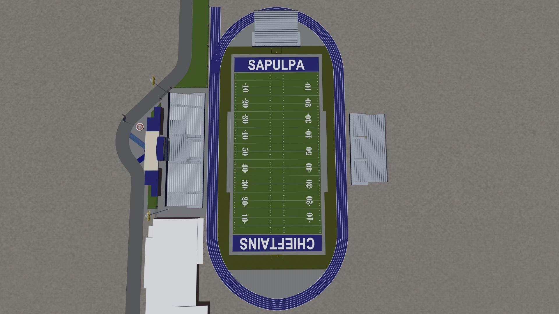 Football field layout