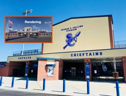Football stadium rendering comparison