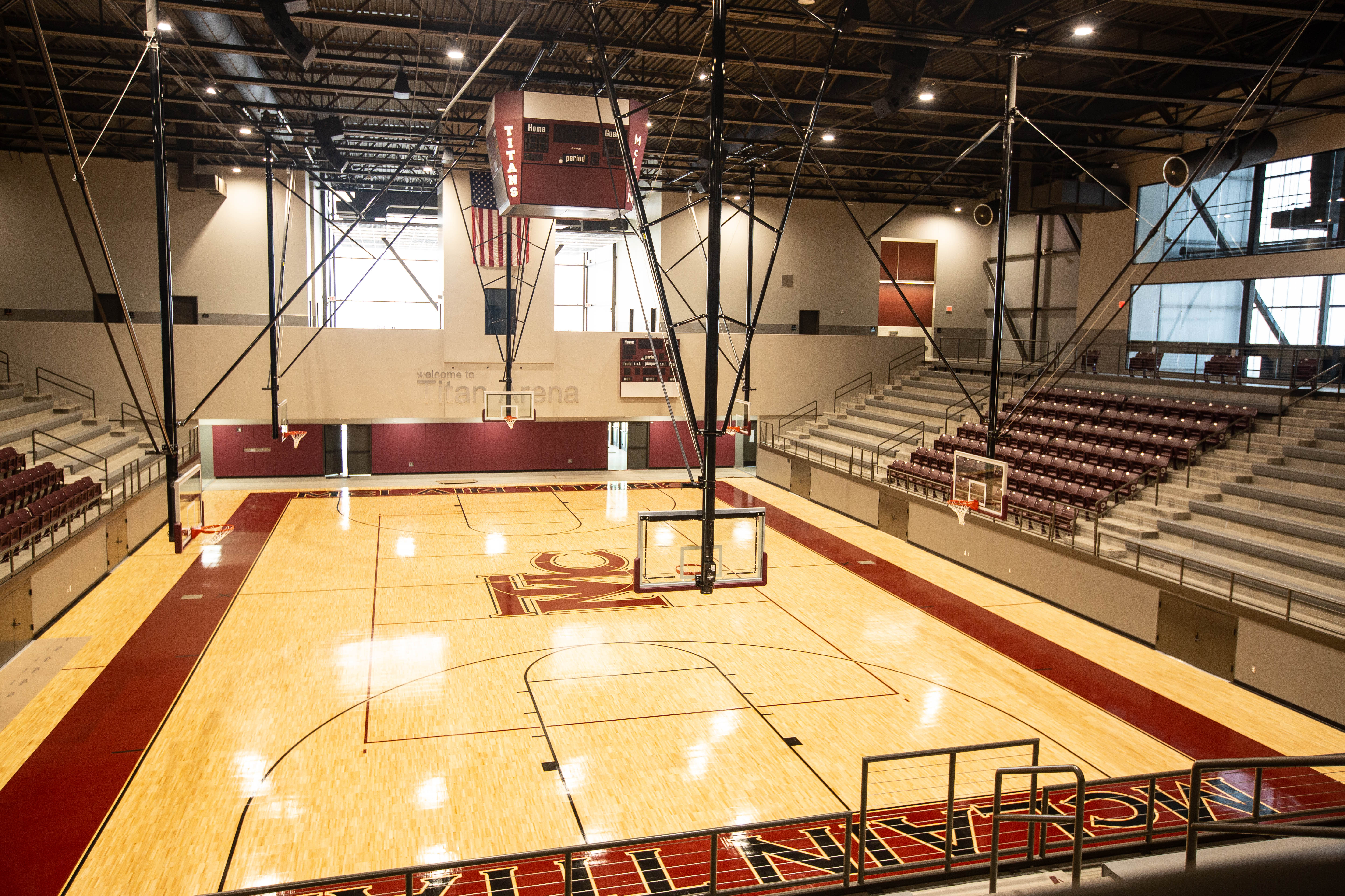 Home court, upper level