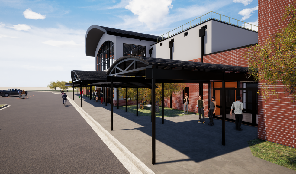 Rendering of the new entryway