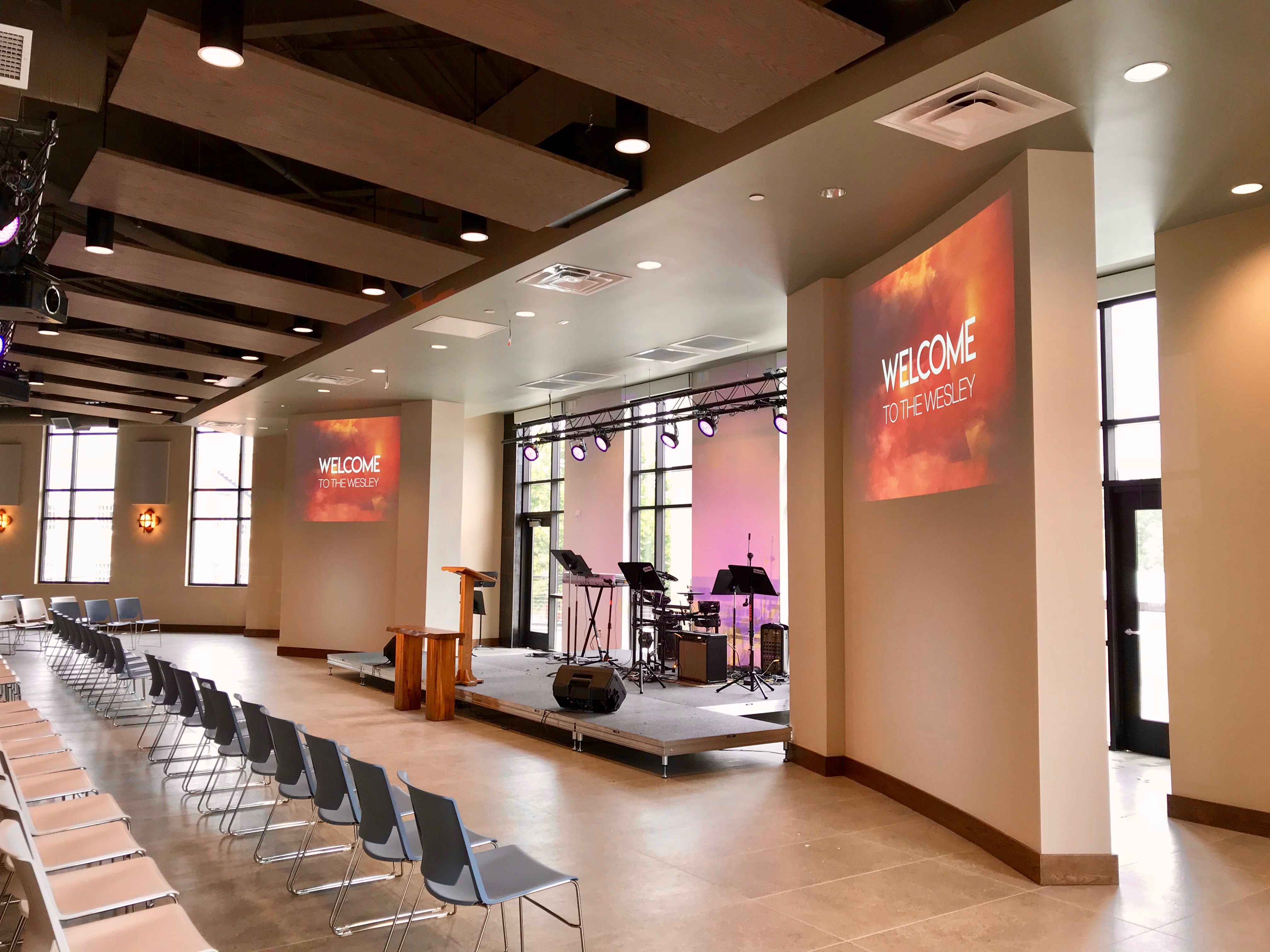 Worship area stage