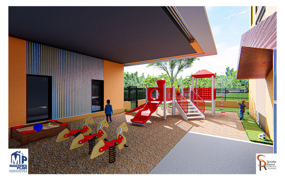 Exterior play area rendering