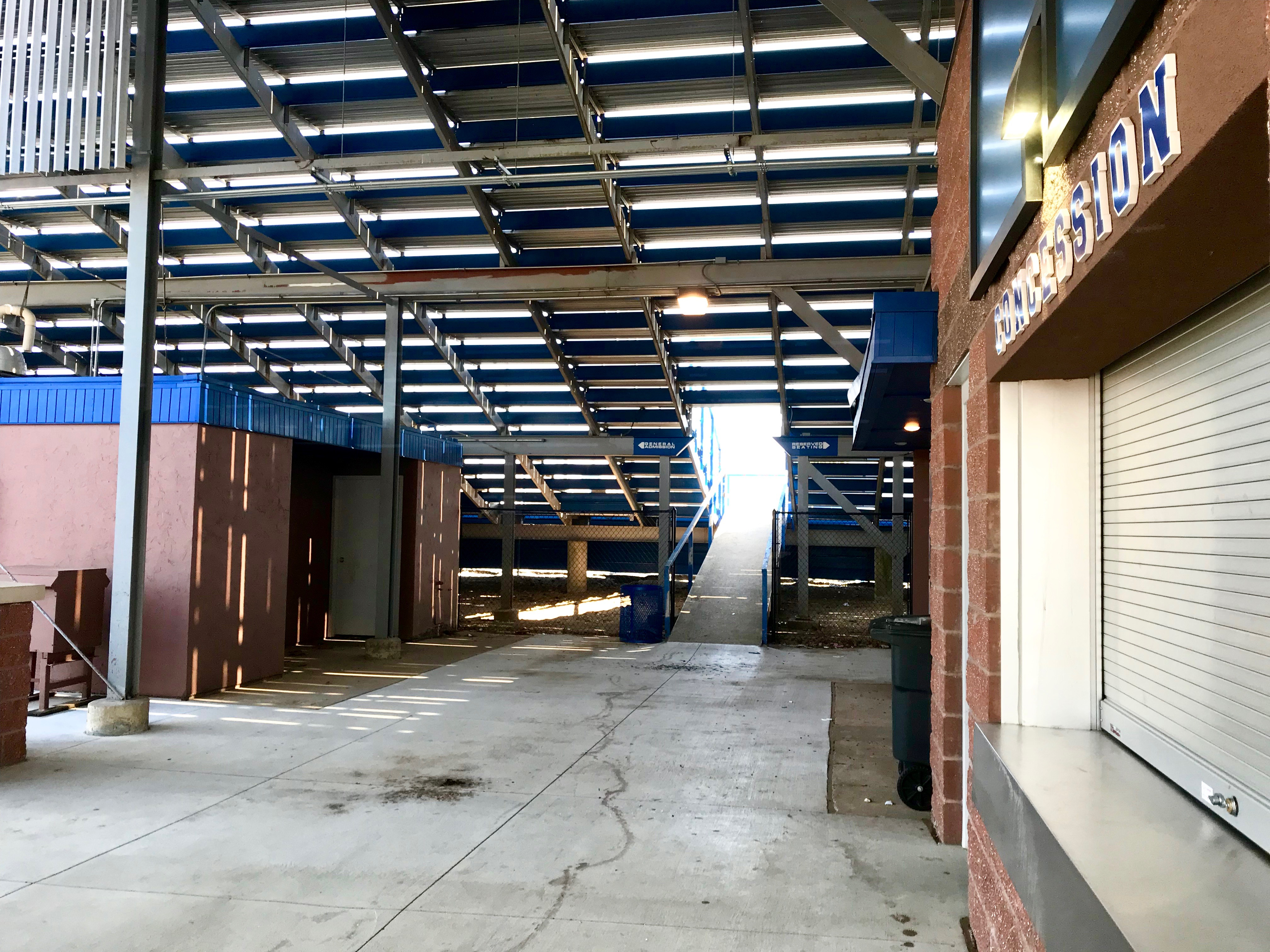 Concession stand, home bleachers