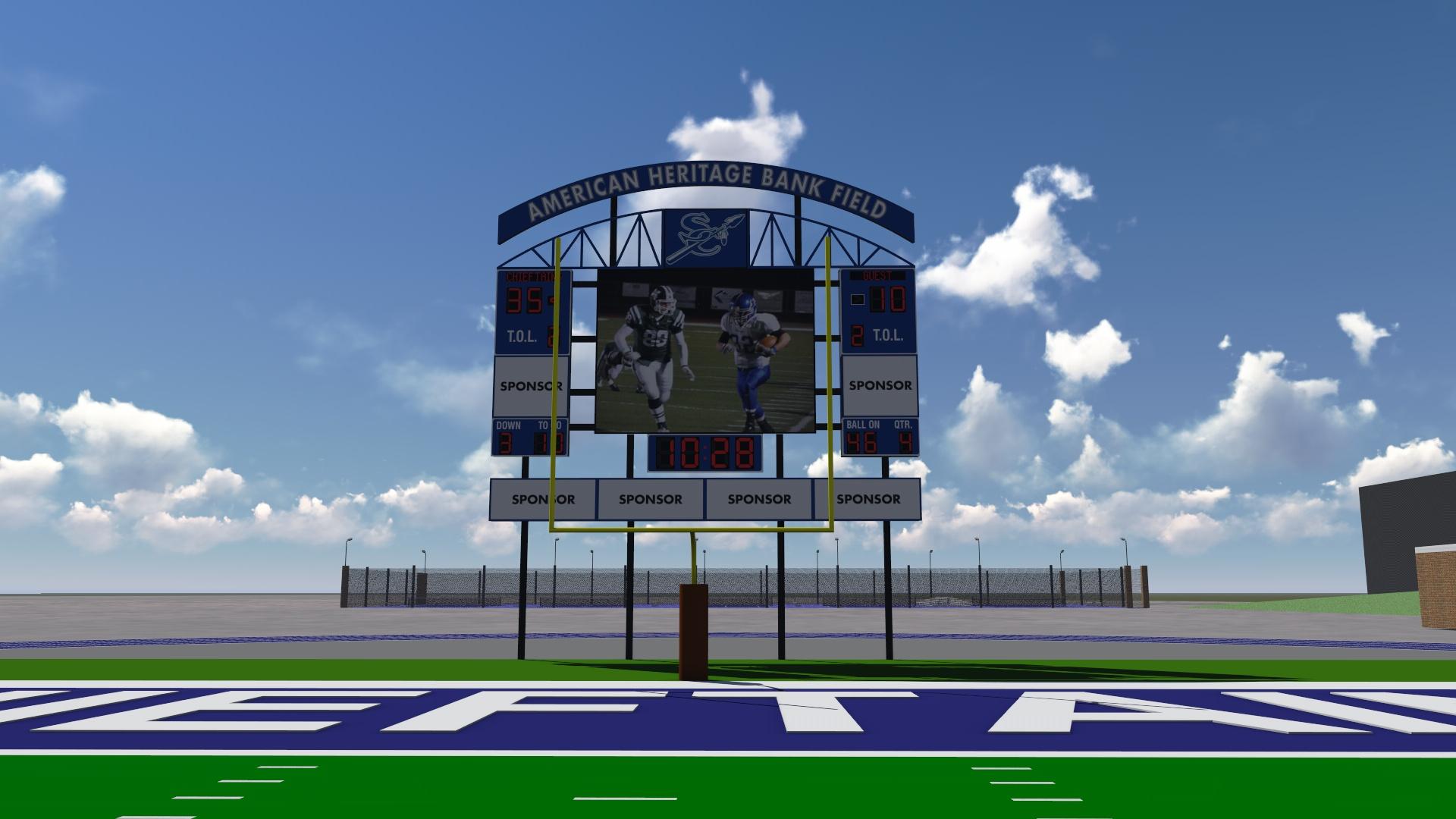 Field scoreboard rendering