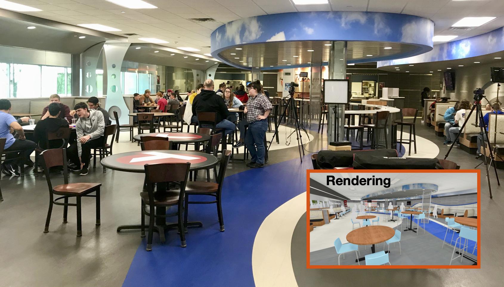 TTC cafe rendering comparison
