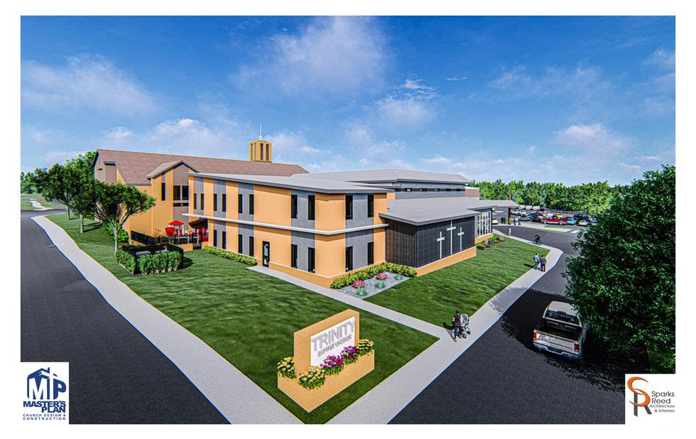 Campus exterior rendering