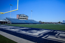One end zone view...