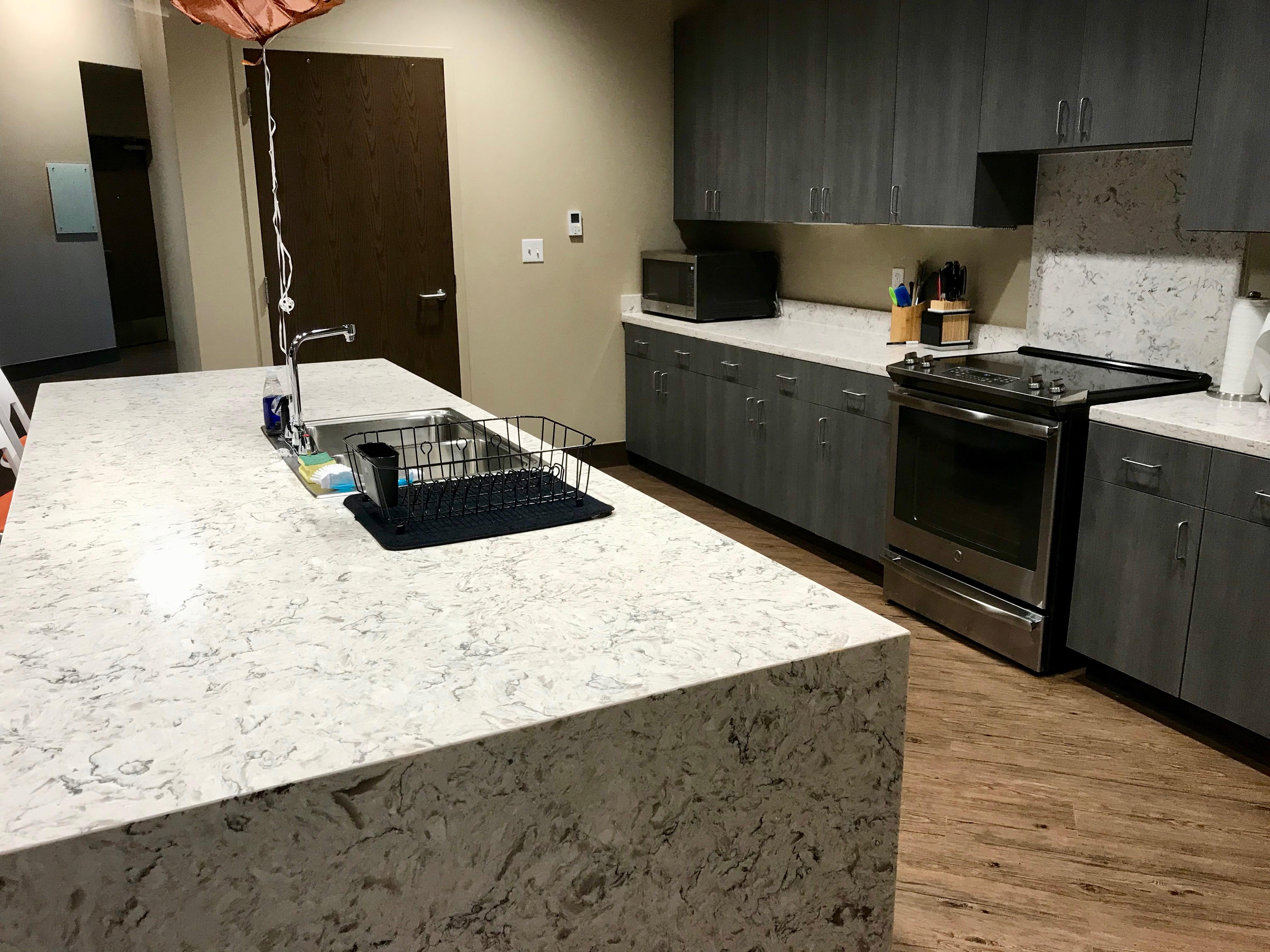 Third floor resident kitchen area