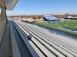 One end zone view from hoe bleachers