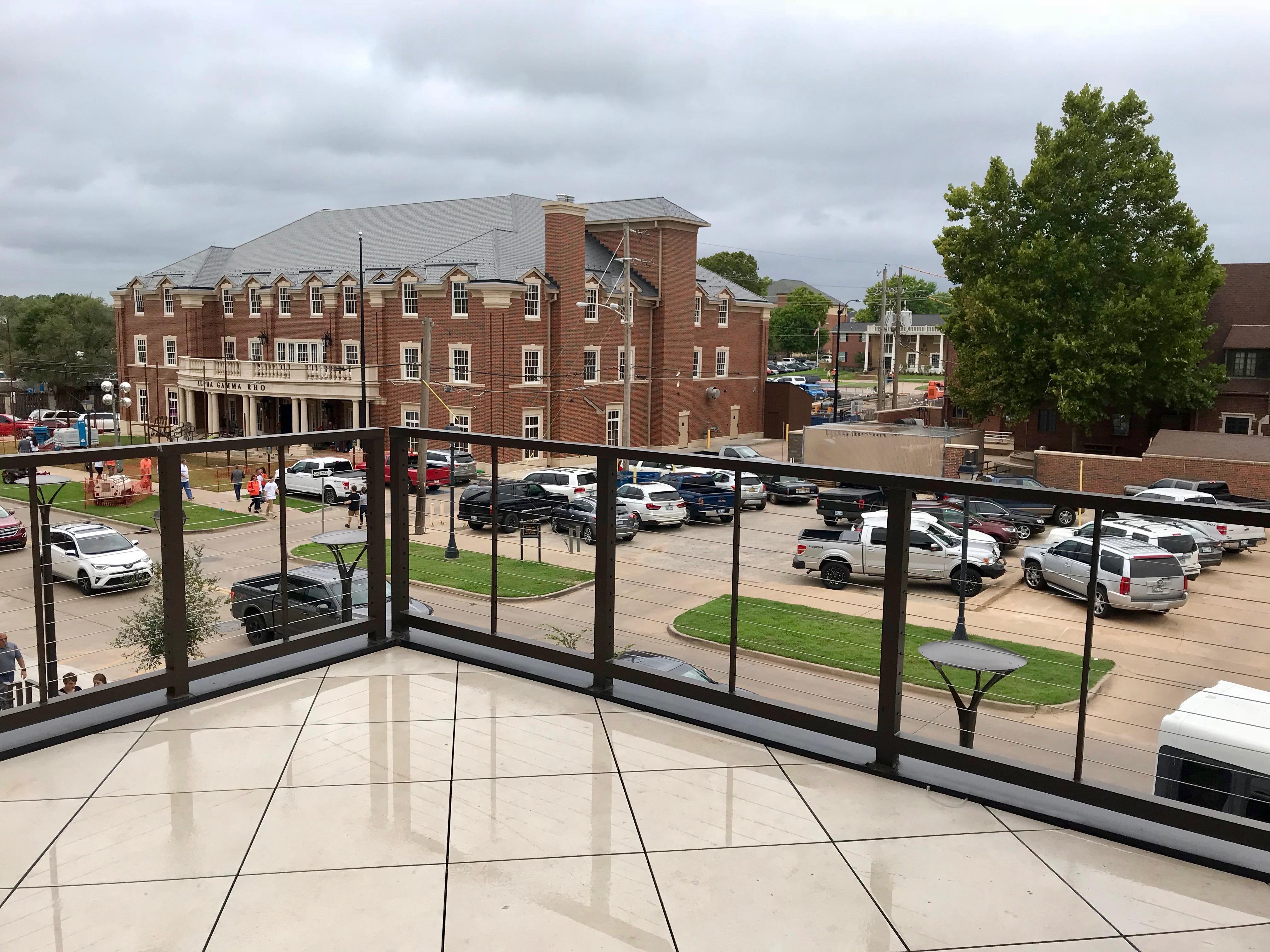 Second floor patio view