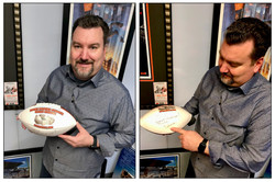 David with his autographed football