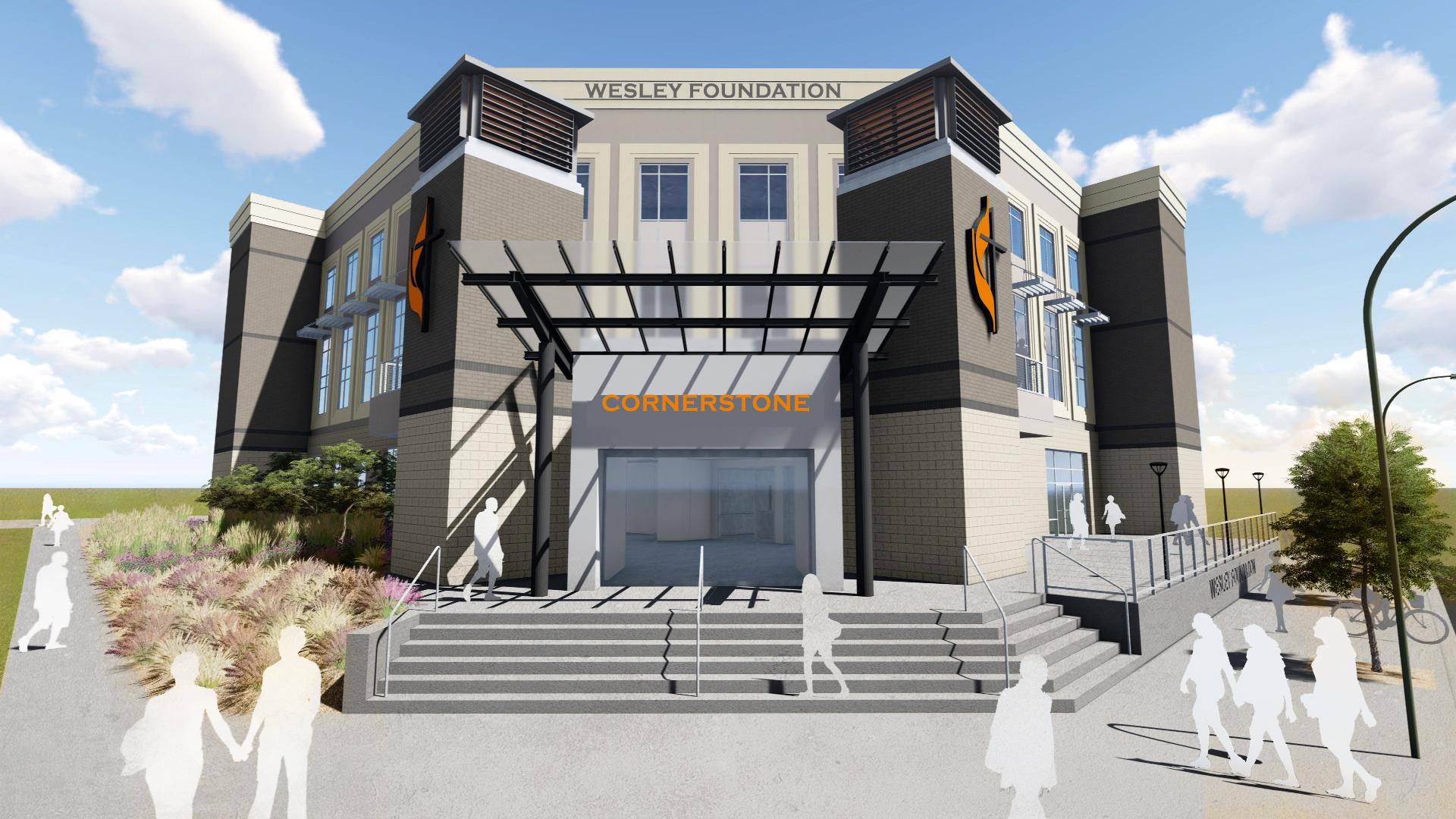 Entrance, Wesley Foundation
