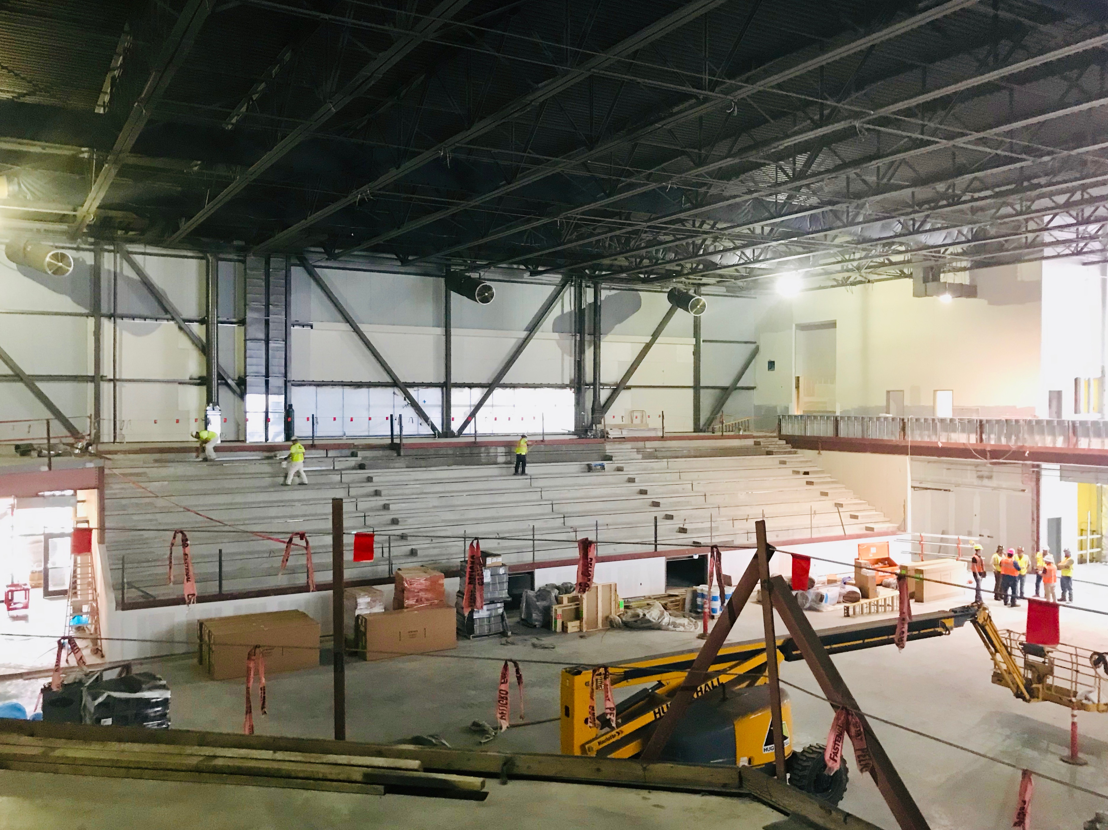 Arena view, concourse level