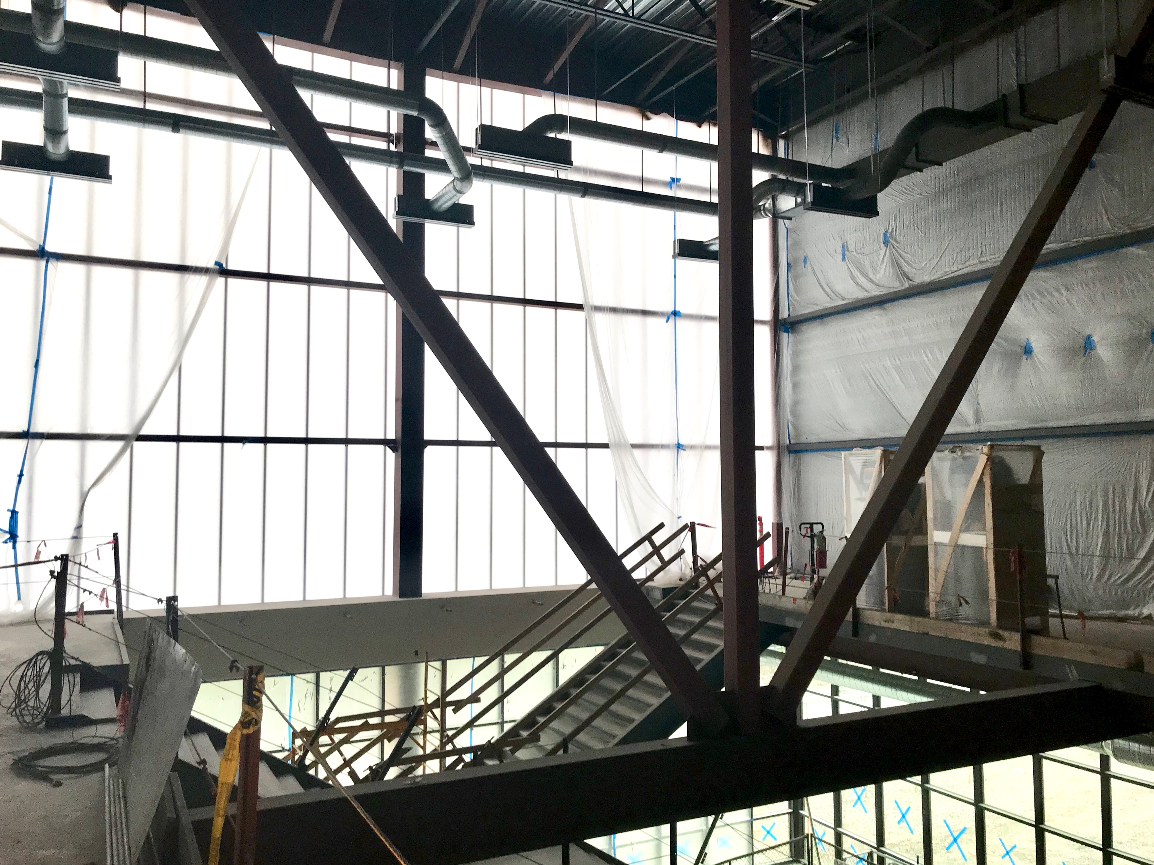 Main stairwell construction