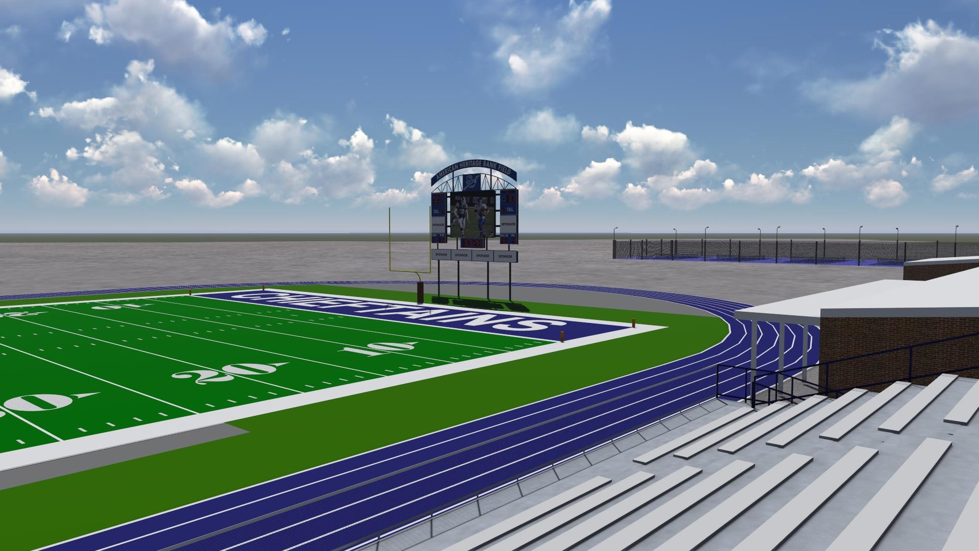 Football field rendering