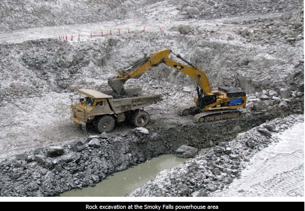 Feb 2011 Rock Excavation at Smoky Falls.jpg