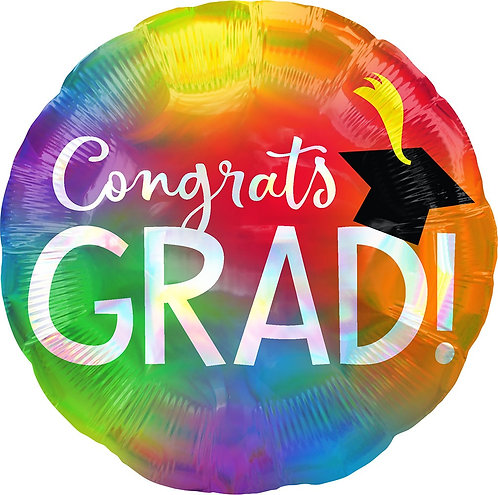 #G12 Iridescent Congrats Grad 18in Mylar Balloon