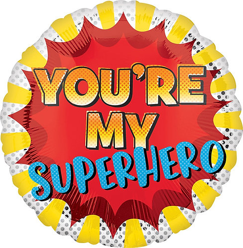#507 You're My Superhero 18in Mylar Balloon