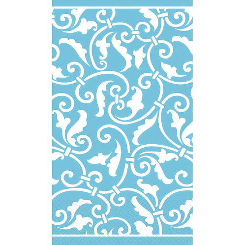 Ornamental Scroll Carribbean Guest Towels 16ct