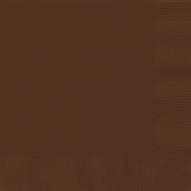 Brown Beverage Napkins 20ct