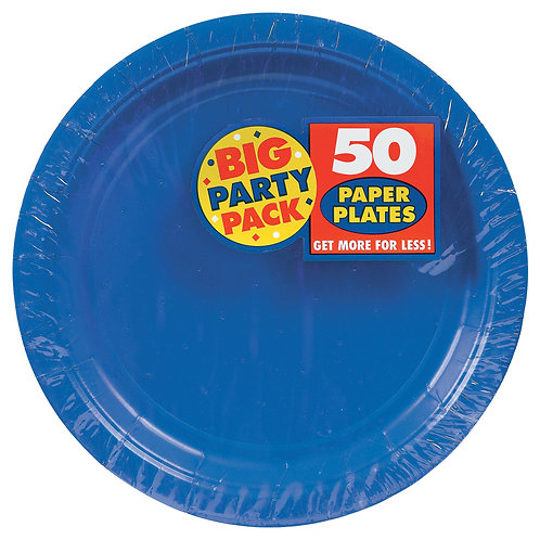 Royal Blue 9in Paper Plates 50ct