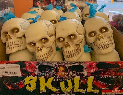 Skull Fireworks Fountain