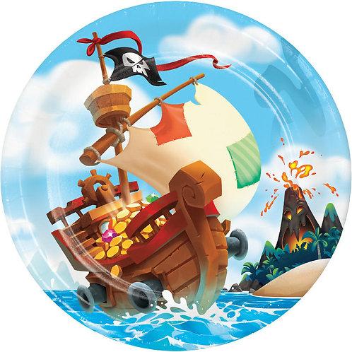 Pirate Treasure Lunch Plates 8ct