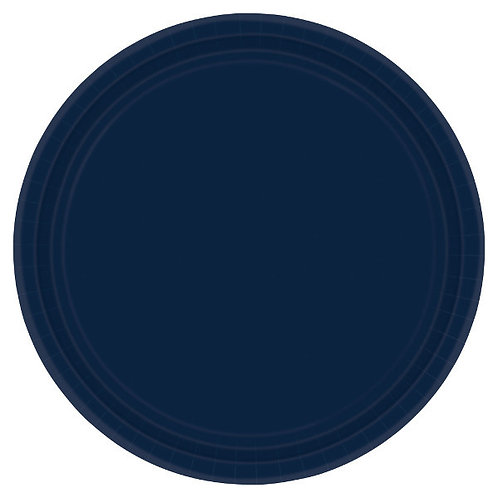 Navy Blue 7in Paper Plates 20ct
