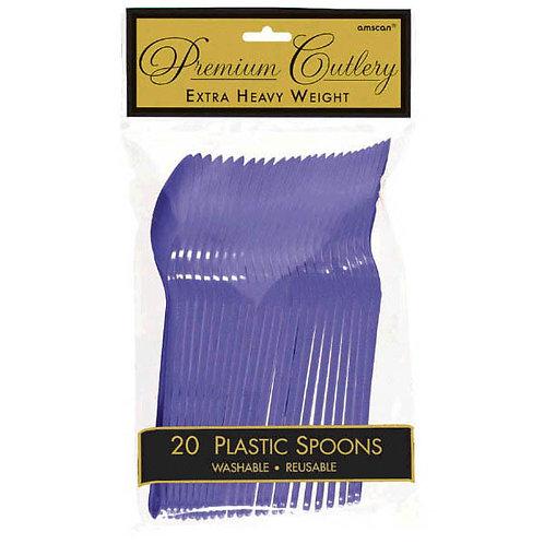 Purple Plastic Spoons 20ct