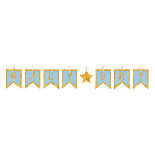 Clothespin Letter Banner - Boy