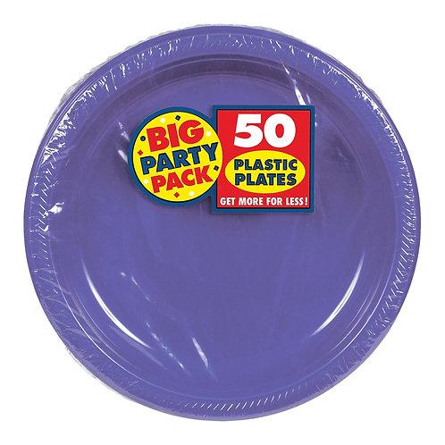 Purple 7in Plastic Plates 50ct