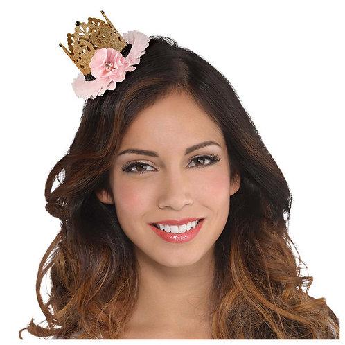 Blush Sixteen Glitter Crown Hair Clip