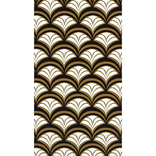 Gold Scallop Guest Towels 16ct