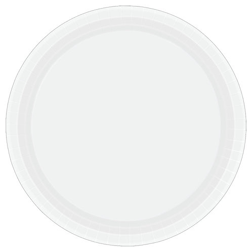 White 10in Paper Plates 20ct