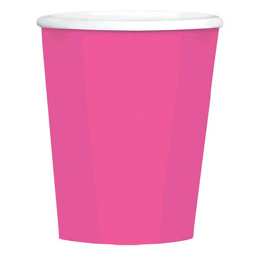 Bright Pink 12 oz. Paper Coffee Cups 40ct