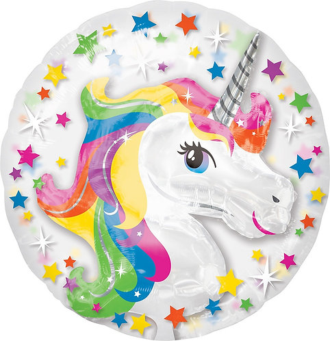 #115 Rainbow Unicorn Insider 24in Balloon