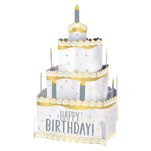 Birthday Accessories Silver & Gold Pop Up Centerpiece