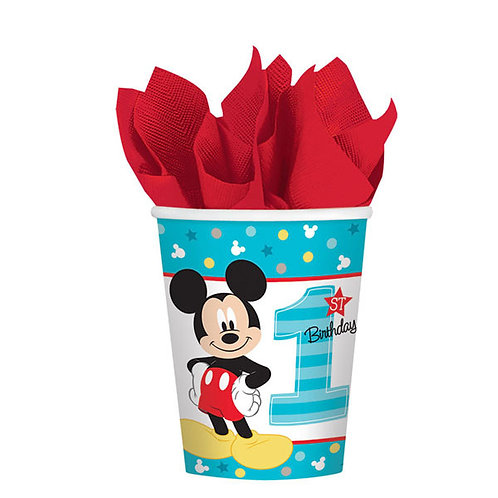 Mickey's Fun To Be One 9oz Cups 8ct