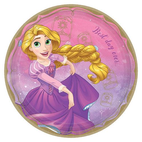 Disney Princess Lunch Plates 8ct - Rapunzel