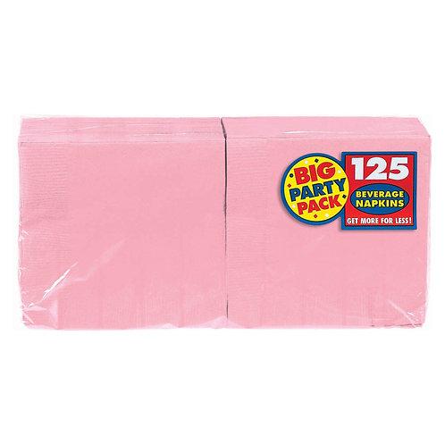 Pink Beverage Napkins 125ct