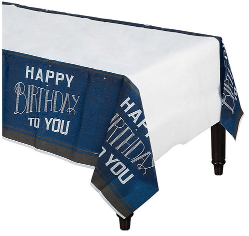 Happy Birthday Man Paper Table Cover