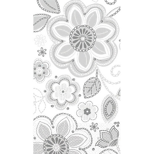 Silver Embroidery Guest Towels 16ct
