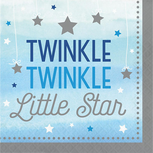 One Little Star Boy Twinkle Lunch Napkins 16ct
