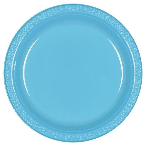 Caribbean Blue 10in Plastic Plates 20ct